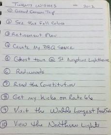 Lists, Lists...